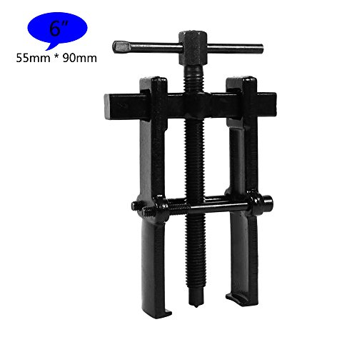 2 Jaw Bearing Puller Remover Forged Gear Removal Repair Tool for Motorcycle Car Auto Adjustable Range Carbon Steel Straight Type Black – 5 Sizes for Choice (6in-55×90mm)