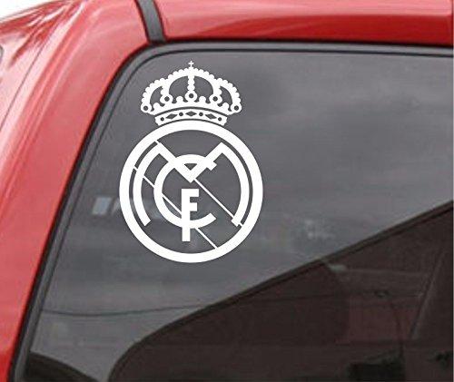 Maple Enterprise Real Madrid F.C Logo White Vinyl Decal Sticker for car Laptop MacBook Window ipad Bumper (Enterprise Car)