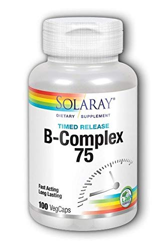 B-Complex 75 Time Release Solaray 100 Caps