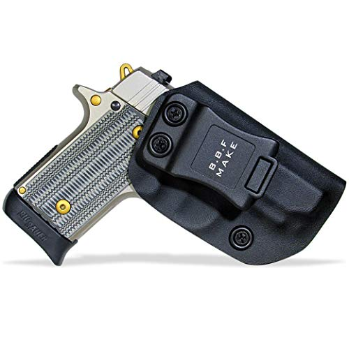 B.B.F Make IWB KYDEX Holster Fit: Sig Sauer P238 | Retired Navy Owned Company | Inside Waistband | Adjustable Cant | US KYDEX Made (Black, Right Hand Draw (IWB))