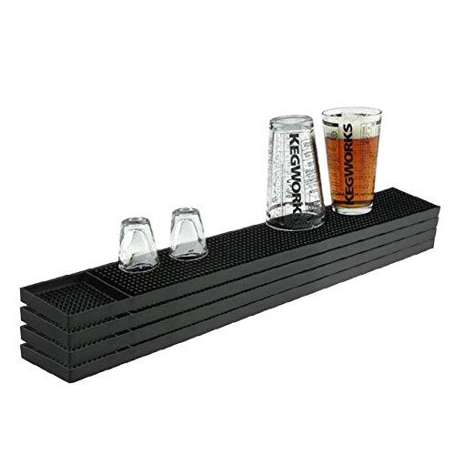 Bar Mat Spill (Rubber Bar Service Spill Mat - Black - 23 1/2
