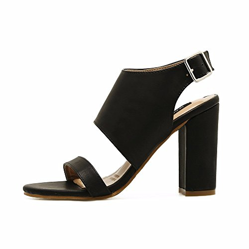 The High Thick Womens Sandals Party Heel With Sandals Euope States United For Heeled Women Sandals nbsp;summer And nbsp; eu36 black Word Xw7xZfxq4