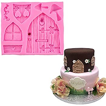 Amazon Com Anyana Gnome Mould Fairy Wizard Silicone Cupcake Baking Molds Forest Party