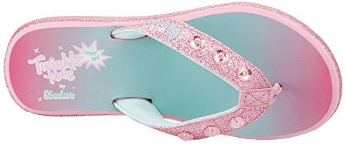 Skechers Mädchen Sunshines-Beach Chic Zehentrenner Mehrfarbig (Pink/multicolour)