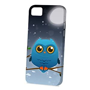 Case FunDiy For SamSung Note 4 Case Cover Vogue Version - 3D Full Wrap - Blue Owl by DevilleART