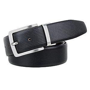 Pontos Men's 100% Premium Leather Reversible Belt- Leather- 35MM