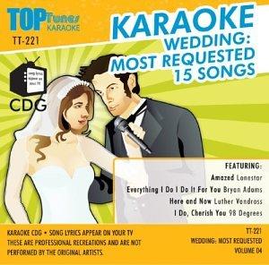 Top Tunes Karaoke CDG Wedding 4: Most Requested Songs TT-221