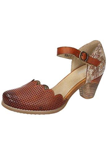 Manitu 920237, Sandalias con Correa de Tobillo Para Mujer marrón (Braun)