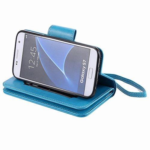 Yiizy Samsung Galaxy S7 G930 Funda, Chica Repujado Diseño Solapa Flip Billetera Carcasa Tapa Estuches Premium PU Cuero Cover Cáscara Bumper Protector Slim Piel Shell Case Stand Ranura para Tarjetas Es