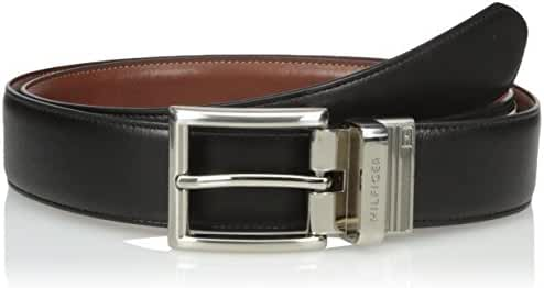 Tommy Hilfiger Men's Dress Reversible Belt with Polished Nickel Buckle (With Big & Tall Sizes)