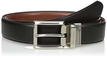 Tommy Hilfiger Men's Dress Reversible Belt with Polished Nickel Buckle, Size 32
