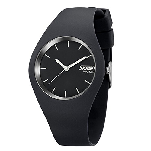 Skmei fashion Trends Korean version of the silica gel quartz ultra-thin fine gift watches(12 styles) (gray) by SKMEI (Image #1)