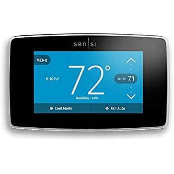 Emerson Sensi Touch Wi-Fi Thermostat with Touchscreen Color Display for Smart Home, ST75, Works with Alexa