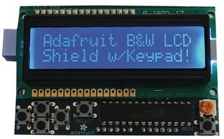 Price comparison product image ADAFRUIT INDUSTRIES 772 LCD SHIELD KIT, 16x2 BLUE/WHITE DISPLAY, ARDUINO