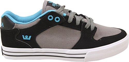 Supra Vaider Lage Sneakers Zwart / Grijs / Turq-white Heren Heren 7.5