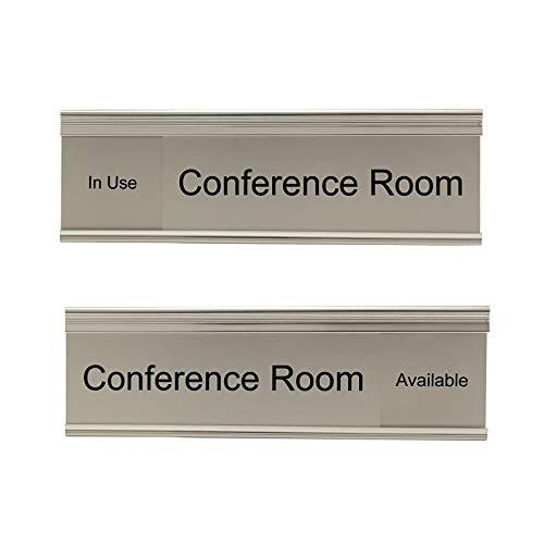 (Modern Conference Room Slider Nameplate Holder (S-S-S))