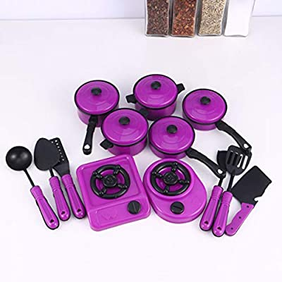 Toyvian 13Pcs Kids Kitchen Playsets Cookware Toys with Pots and Pans for Toddlers: Toys & Games