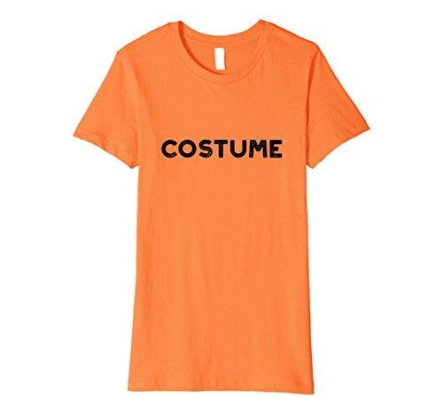 Womens Easy Simple Halloween Costume Funny T-shirt Small (Simple Halloween Costumes Female)