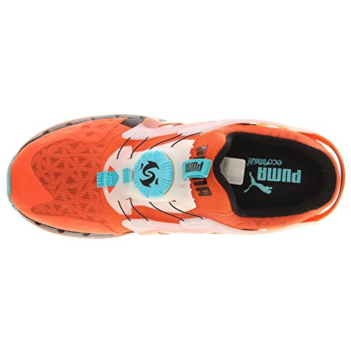 Puma - - Hombres Future Disco Lite Tech'D Out Zapatos Tigerlily/Black/Bluebird