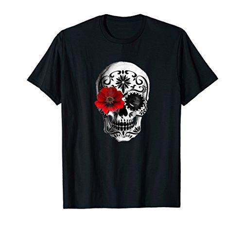 Mens Day of the Dead Sugar skull, Cinco de mayo T Shirt XL Black -