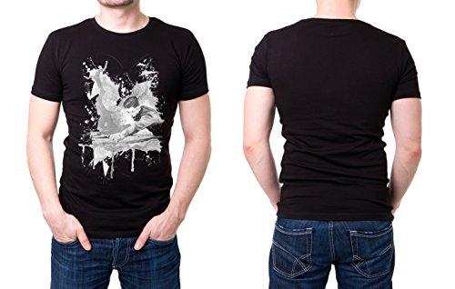 Snooker_I schwarzes modernes Herren T-Shirt mit stylischen Aufdruck