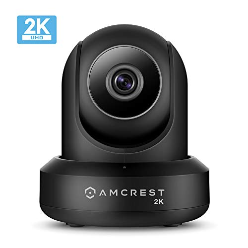 Amcrest UltraHD 2K (3MP/2304TVL) WiFi Video Security IP Camera with Pan/Tilt, Dual...