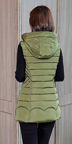 Packable TTYLLMAO Down Sleeveless Green Army Hooded Women's Puffer Vest E7RfRqZwF