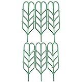 ASSR Garden Trellis, DIY Garden Plant Pot Leaf Shape Mini Climbing Trellis Plant Support(6 Pack)