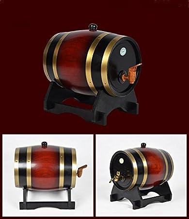 10L, Chocalate Color Oak Barrels Wooden Barrel for Storage or Aging Wine Spirits Wine Barrels 1.5L-20