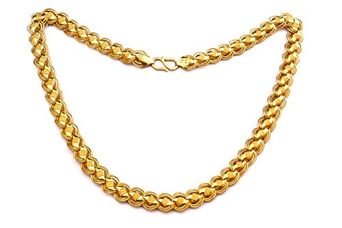 JewelsForum 22K Gold Stamped Designer Link Chain 20 Inch by JewelsForum