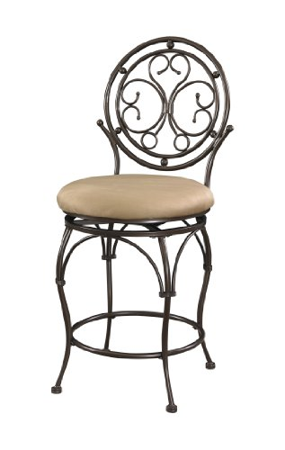 Powell Company Big and Tall Scroll Circle Back Counter Stool