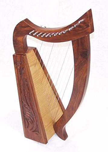 21 Inch Tall Celtic Baby Harp 12 Strings Solid Wood Free Bag Strings Key by Sturgis