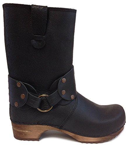 Sanita 'Mohawk' Danish Clog Boots in Black (Art:452203) - 39