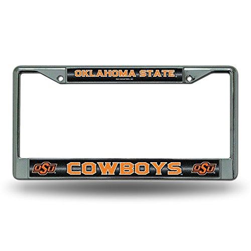 Rico NCAA Oklahoma State Cowboys Bling Chrome License Plate Frame with Glitter (Oklahoma State Cowboys Basketball)