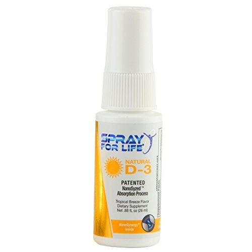Spray for Life Vitamin D3 Spray with Nanotechnology – 6000IU Daily Vitamin-D Liquid Spray for Adults, Children and Seniors – 30 Day Supply
