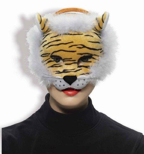 Tigger Costume Amazon (Forum Novelties Deluxe Plush Striped Tiger Animal Half Mask)