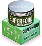 Superfood Marine Clay Mask for Face - Best Facial Pore Minimizer - Cleanse and Detoxify the Skin - Reducer & Pores Cleanser Treatment - Natural for Younger Looking Skin