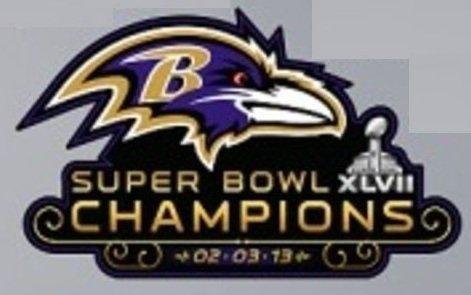 FATHEAD Baltimore Ravens Super Bowl 47 XLVII Champions Logo Official NFL Vinyl Wall Graphic 24