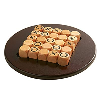 Gigamic - Quixo - Travel size easy to carry, Modern classic abstract strategy game, 2 or 4 players, in wood: Toys & Games