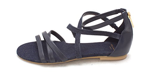 Cole Haan Womens Aliviasam Open Toe Casual Strappy Sandals Blue Denim In0f8pQaL