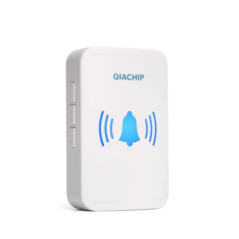 QIACHIP Wireless Doorbells Self-powered Door Chimes Push Button Kinetic Battery-Free Door Bells Waterproof 38 Musical Tones 150m Range Shenzhen Keshilian Electronic Technology Co Ltd