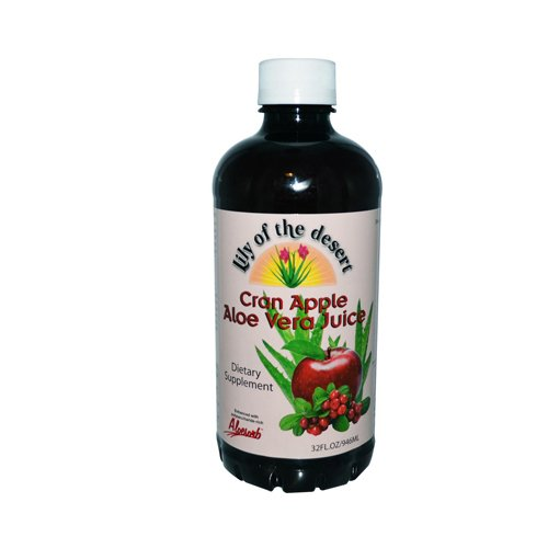 Organic Pleasant Tasting Aloe Vera Juice Drink, Cranberry - 32 Oz, 5 Pack