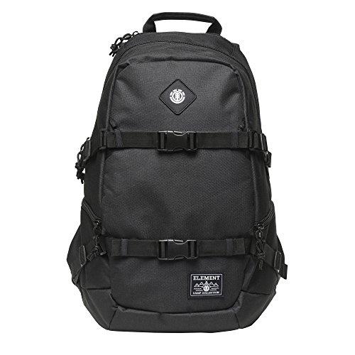Element Young Men's Jaywalker Skate Backpack With Straps and Laptop Sleeve Accessory, JAYWALKER FLINT BLACK L, ONE