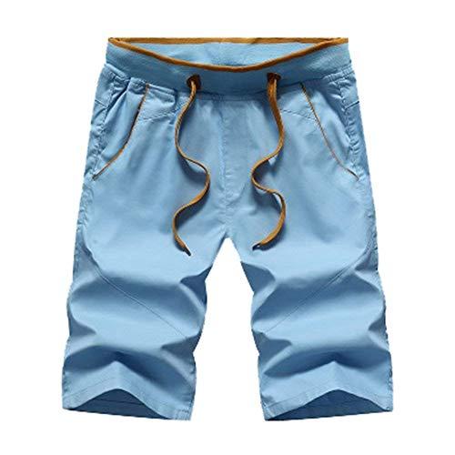 Blau2 77 Pantalons Serrage Chic Mode Hommes Eté Plage Basique Courts 4 3 Cordon Slim Bermudas Fit Shorts Décontracté Bolawoo De qXwpdHxq