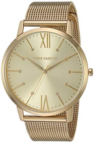 Vince Camuto Women's VC/5332CHGB Swarovski Crystal Accented Gold-Tone Mesh Bracelet Watch ()