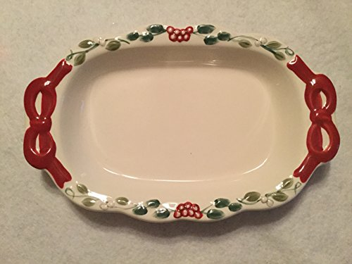 Winterberry Appetizer Plate - Pfaltzgraff Winterberry Appetizer Tray/Plate
