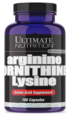 Ultimate Nutrition Arginine Ornithine Lysine Capsules | Amino Acid Blend to Recover Faster | 33 Servings, 1 Capsule | 100 Capsules (L-glutamine Human Growth Hormone)