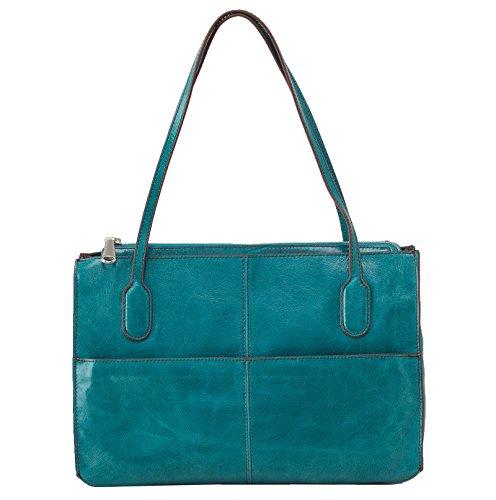 [Hobo Women's Genuine Leather Vintage Friar Top Handle Shoulder Bag (Teal Green)] (Hobo Purses)