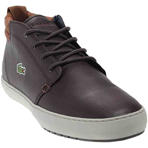 Lacoste - Mens Ampthill Terra 317 1 Shoes Dark Brown rVRPS