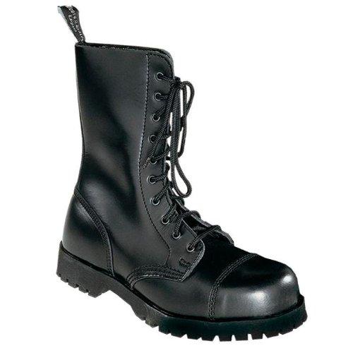 Boots & Schwarz Braces Stiefel 10-Loch Rangers Schwarz & 40 ca4417